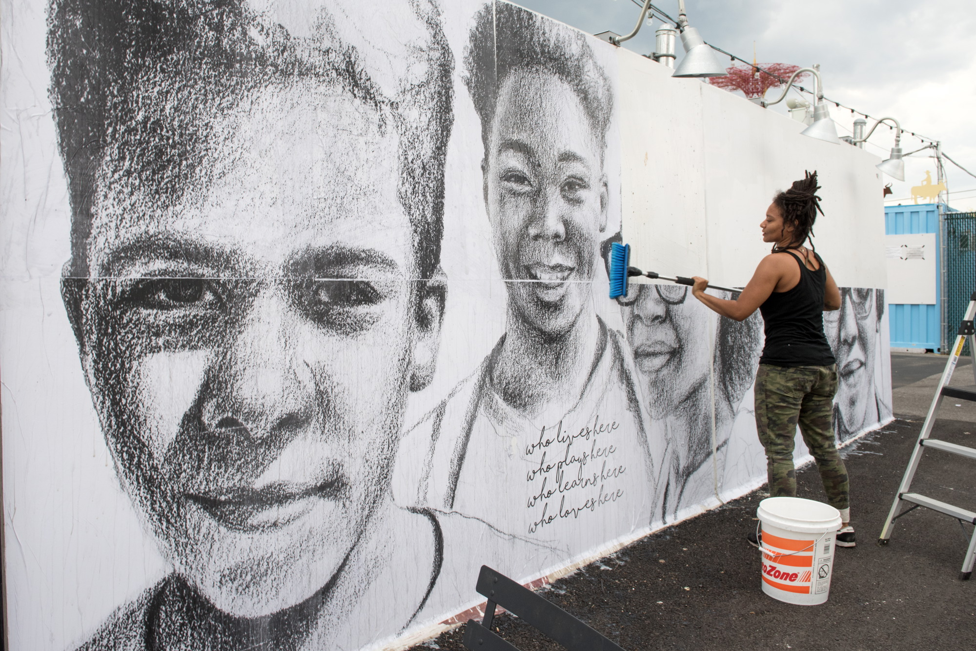 Coney Art Walls | Tatyana Fazlalizadeh The Art Of Getting By Drawings